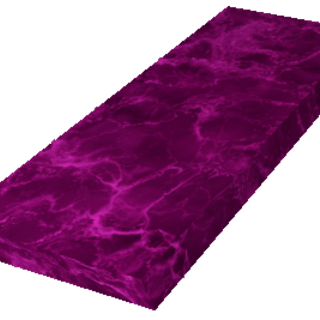 Pink wood in a countertop