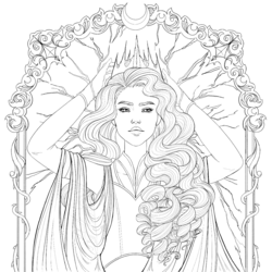 Coloring book character profile Levana