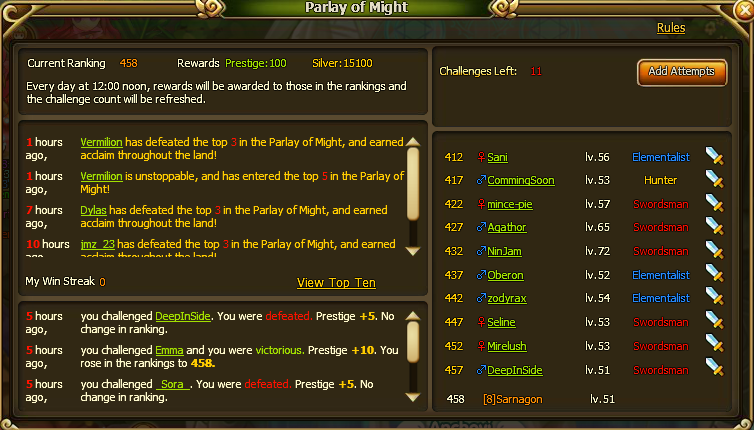 Parlay of Might