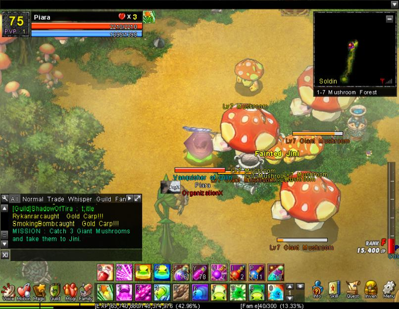 Defeat 3 Giant Mushrooms (1-7H)