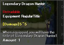 Title Legendary Dragon Hunter