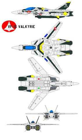 File:VF1S Fighter-Left-Top-Bottom-Front-Back.png