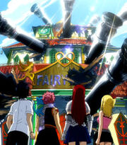 Fairy Tail Guild wrecked by Phantom Lord