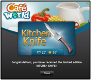 Kitchen Knife recieved