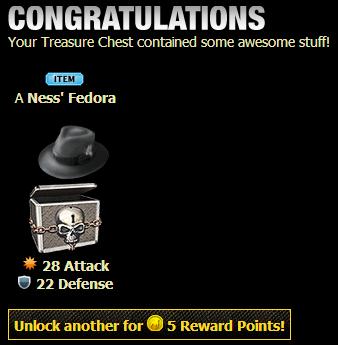 Ness' Fedora Treasure Chest