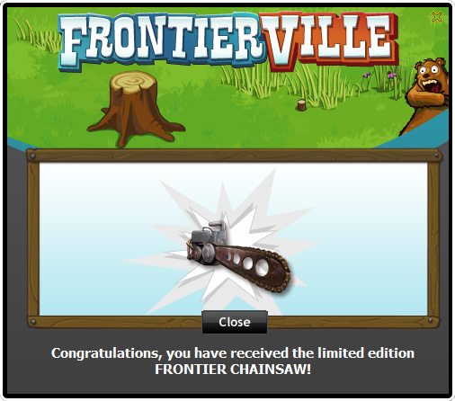 Frontier Chainsaw received