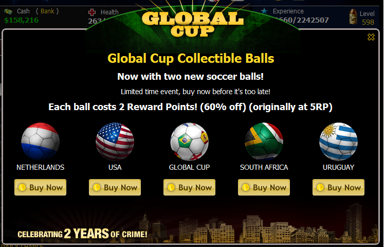 Global Cup Collectible Balls Popup2