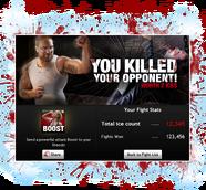 New fight kill popup