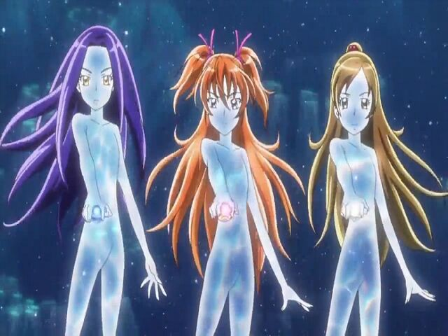 File:Suite Pretty Cure Hibiki, Kanade and Ellen in the Modulation transformation.jpg
