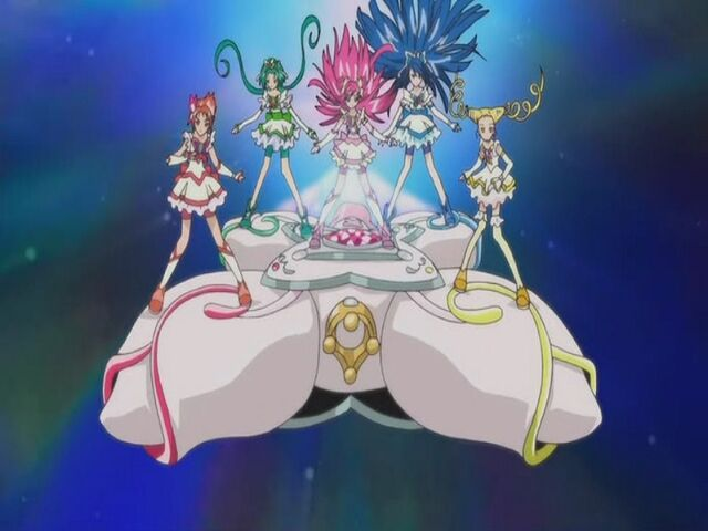 File:Yes! Pretty Cure 5 using the Five Explosion attack.jpg