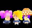 Gdgd Youseis Pikupiku, Shrshr and Korokoro pose (school uniform)