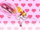Powerpuff Girls Z Blossom using her attack (pajamas)