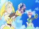 Sasami Mahou Shoujo Club Tsukasa and Anri using their magic