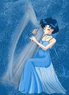 Princess Mercury playing the harp