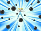 Powerpuff Girls Z Bubbles using her attack (other suit)