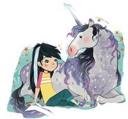 Hattie and Unicorn
