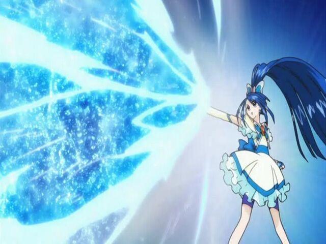 File:Yes! Pretty Cure 5 Cure Aqua using the Aqua Stream attack.jpg