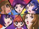 Puni Puni Poemi Nanase, Mutsumi, Itsue, Shii, Mitsuki and Hitomi