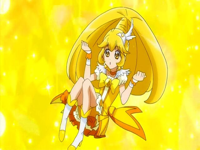 File:Smile Pretty Cure! Cure Peace in her transformation.jpg