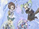 Sasami Mahou Shoujo Club Makoto and Anri using their magic5