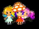 Gdgd Youseis Pikupiku, Shrshr and Korokoro pose6