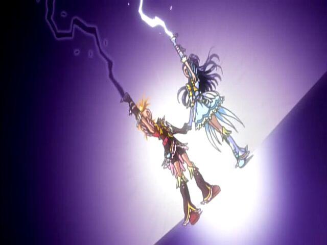 File:Futari wa Pretty Cure Max Heart Phoenix Cure Black and White in the Marble Screw Max attack.jpg