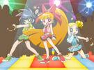 Powerpuff Girls Z transformation pose (disco)