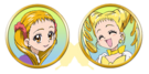 Yes! Pretty Cure 5 Urara and Cure Lemonade faces