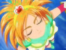 Futari wa Pretty Cure Splash Star Cure Bright in her transformation