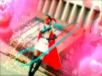 Bishoujo Kamen Poitrine Movie using her magic