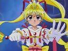 Kamikaze Kaitou Jeanne Kaitou Jeanne preparing her ribbon3