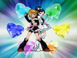 Futari wa Pretty Cure Cure Black and White in the Opening 2