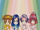 Doki Doki Special Mana, Rikka, Alice and Makoto in the Love Link transformation