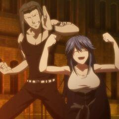 Tatsuko and her twin brother, Ryuhei. (Anime)