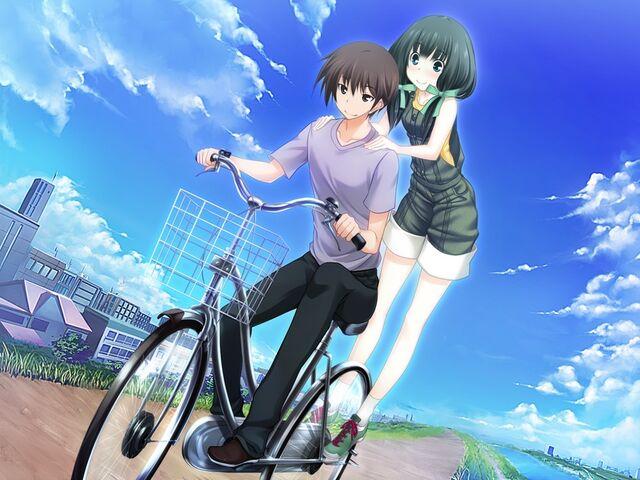 File:Yamato and Sayaka- Bike Riding.jpg