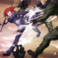 Margit fighting off invaders