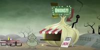 Clamburg's onion stand
