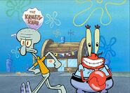 Squidward and mr. krabs