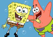 Spongebob squarepants and patrick star