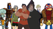Gaston and Frollo wall pixel