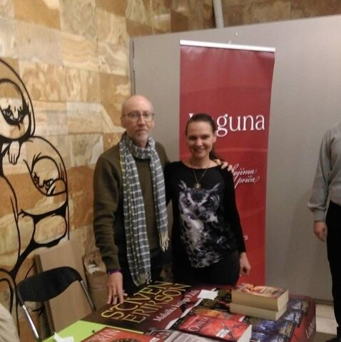 File:Steven Erikson posing with fan in Serbia.jpg