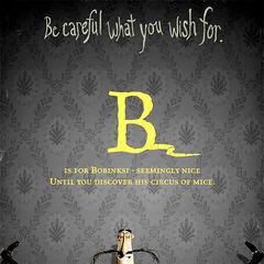 <i>B is for Bobinski</i>.