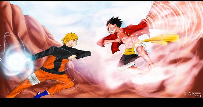 Naruto vs luffy by peacyyy-d7b4qwd