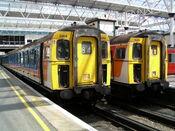 3414 and 3419 at London Waterloo