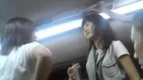 Hiruko's drunk friend brawl it out on the subway
