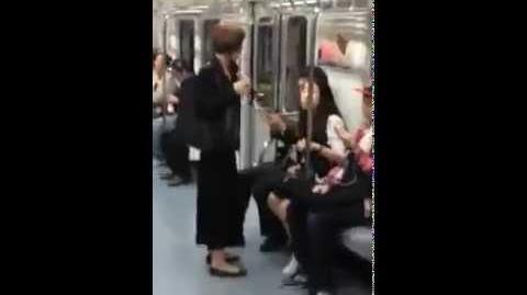 A passenger attacks Haruko's reclusive sister