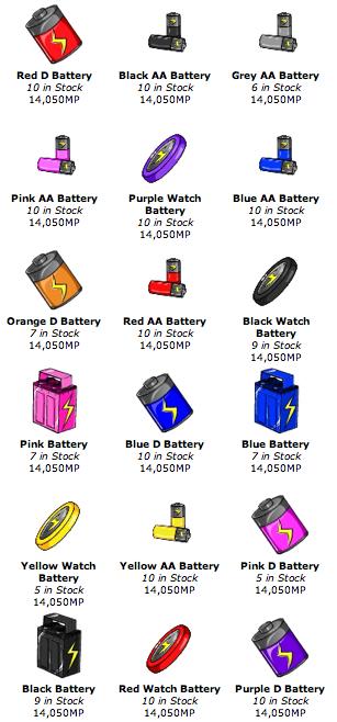 BatteriesShopItems
