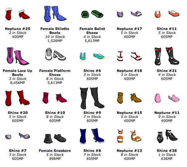 FemaleShoesShopItems