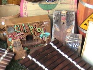 MARIMBAS - Marimba Kidogo (East Africa), Rhumba box (Jamaica, Cuba, Puerto Rico), Marimba (DRC), Mbira (Zimbabwe), Balafon (Senegal, Guinea, Mali)