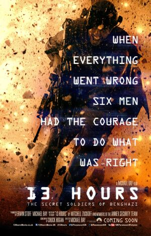 13 Hours The Secret Soldiers of Benghazi Movie Poster